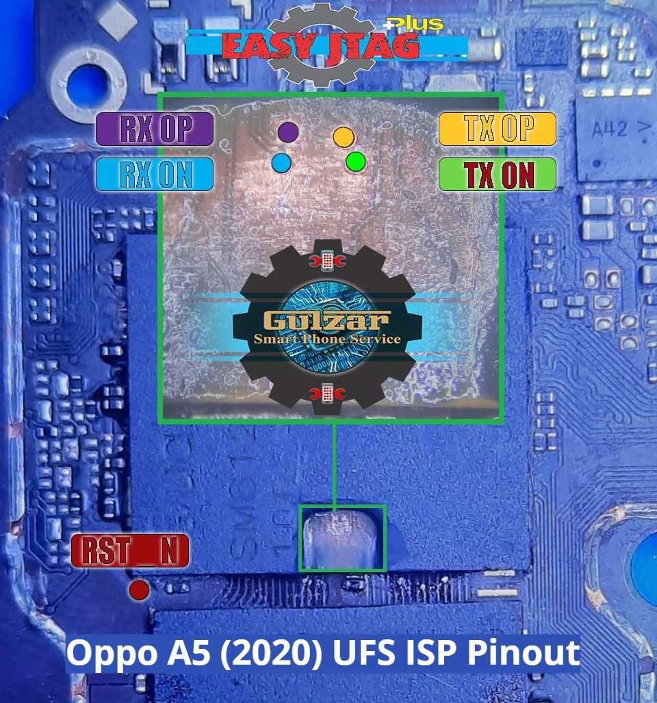 Oppo A5 2020 UFS ISP Pinout