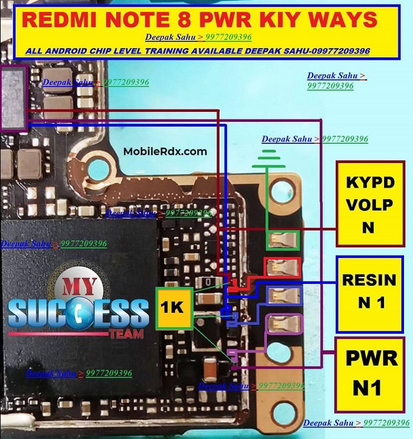 Redmi Note 8 Power Key Way Volume Button Jumper Solution