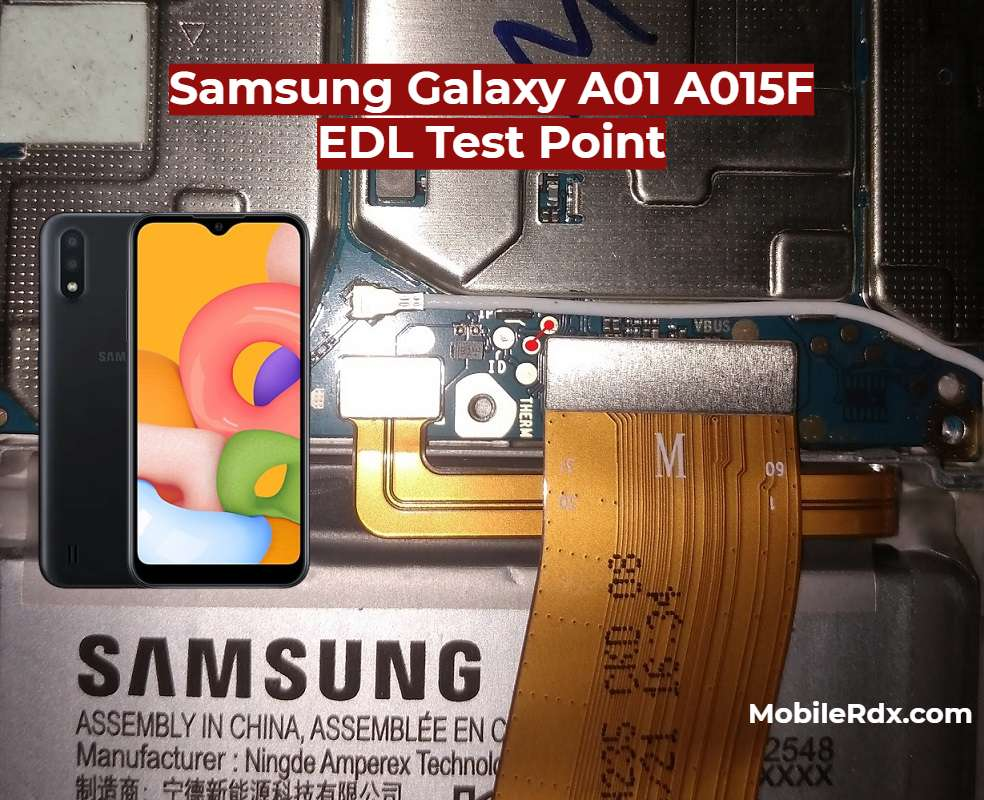 Samsung A01 A015F EDL Test Point EDL 9008 Mode