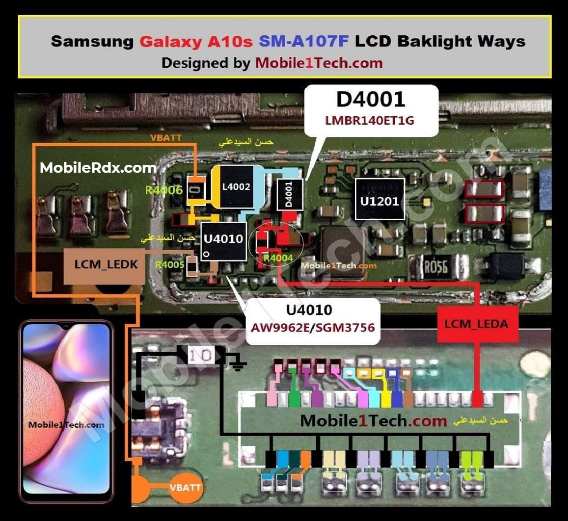 Samsung A10s A107F LCD Backlight Ways Display Problem Solution