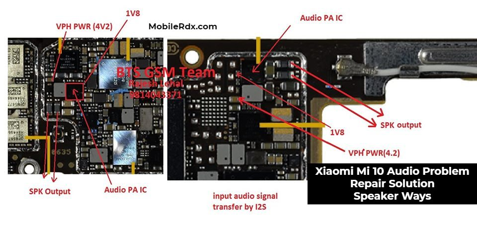 Xiaomi Mi 10 Audio Problem Repair Solution Speaker Ways