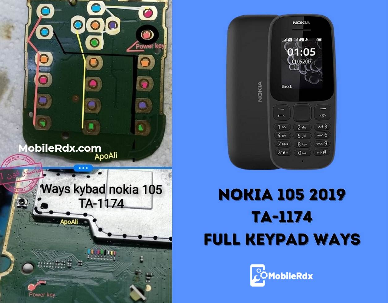 Nokia 105 TA 1174 Full Keypad Ways Keypad Problem Repair Solution