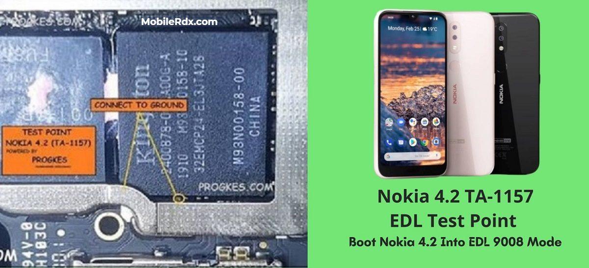 Nokia 4.2 TA 1157 EDL Test Point – Boot Nokia 4.2 Into EDL 9008 Mode