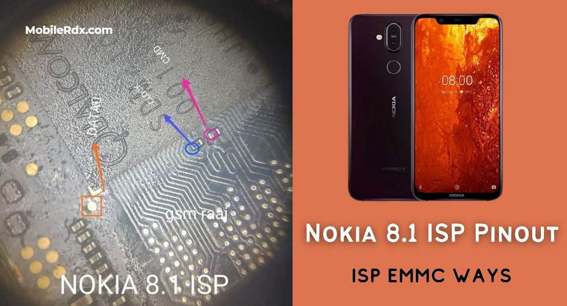 Nokia 8.1 ISP EMMC PinOUT To Bypass FRP Pattern Repair Dead Boot