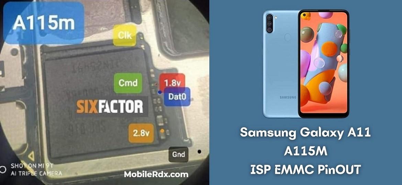 Samsung Galaxy A11 A115M ISP EMMC PinOUT   Test Point