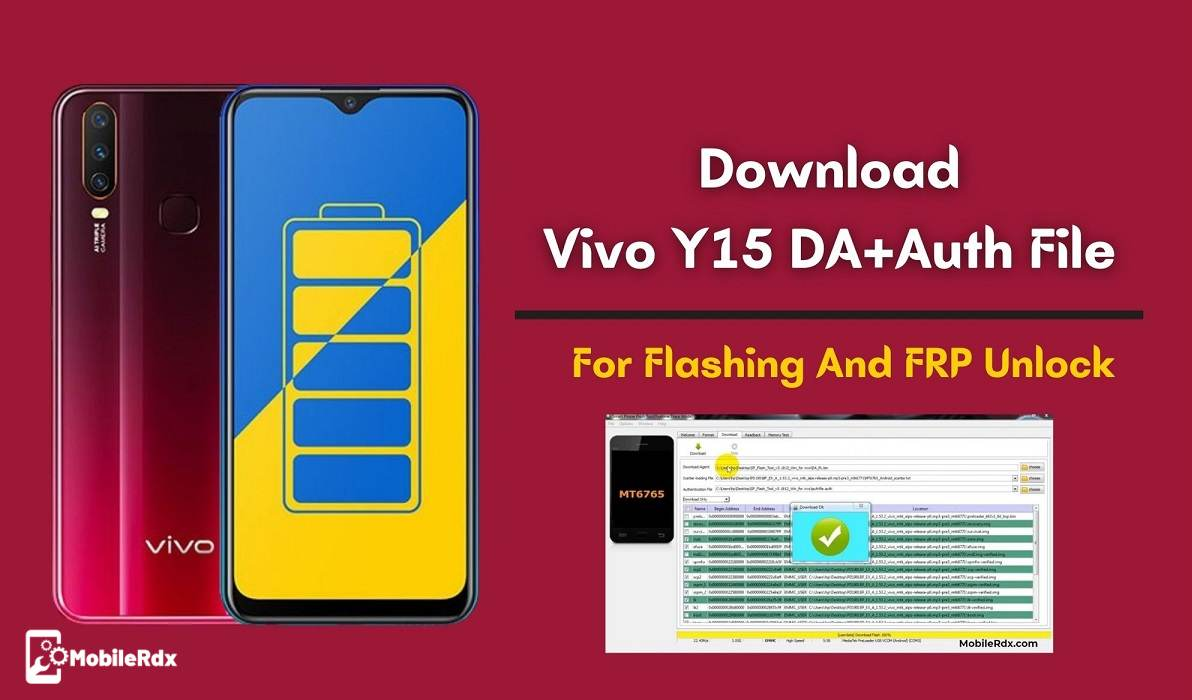 Vivo Y15 DA And Auth File Download For Flashing And FRP Unlock