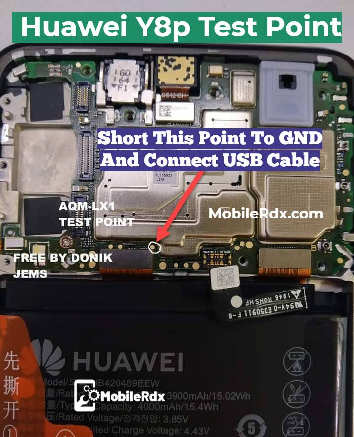 Huawei Y8p Test Point For Remove User Lock FRP And Flashing