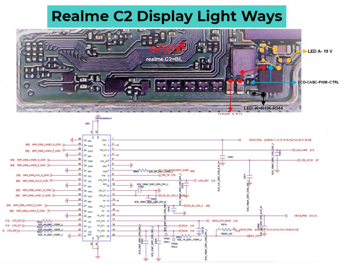 Realme C2 Display Light Ways LCD Backlight Problem Solution
