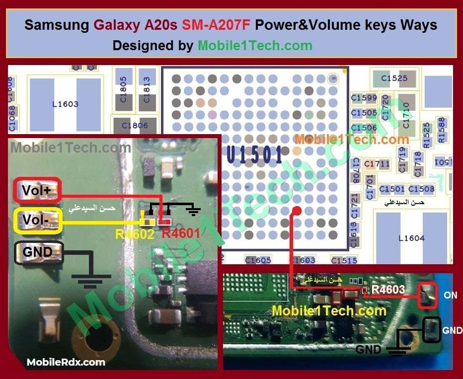 Samsung A20s A207F Power Key Way   Volume Button Jumper Solution