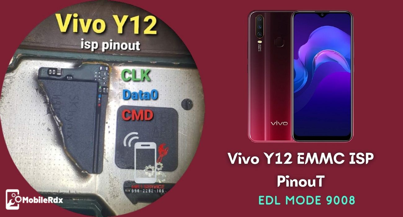Vivo Y12 EMMC ISP PinouT Test Point EDL Mode 9008