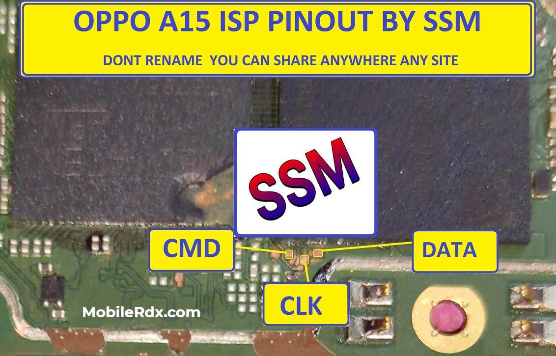 Oppo A15 ISP PinOUT to Remove Pattern FRP Lock EMMC Repair