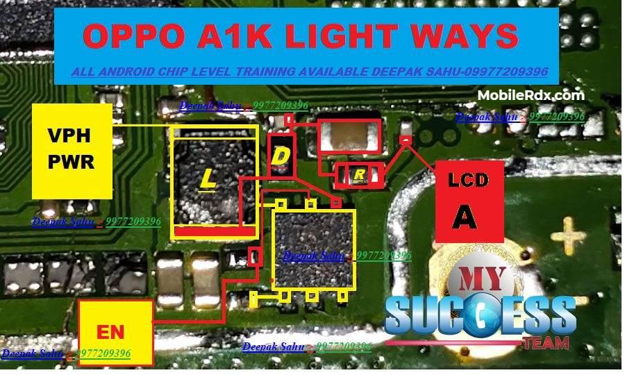 Oppo A1k Backlight Way   Display Light Problem Solution