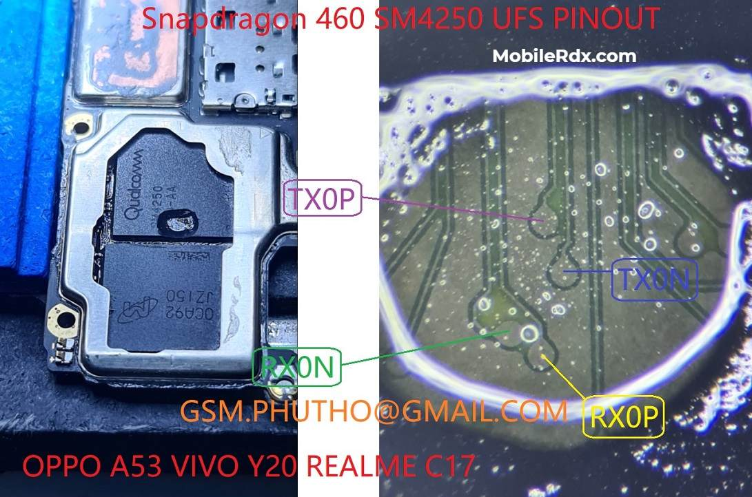 Oppo A53 UFS ISP PinOUT   Remove FRP Pattern Using Easy JTAG Plus