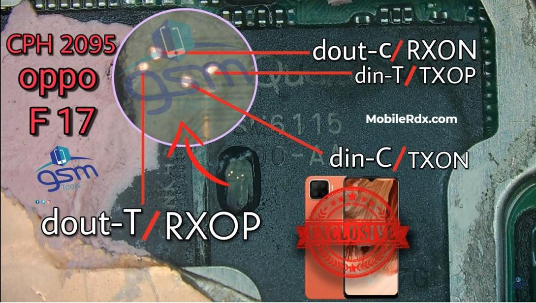 Oppo F17 UFS ISP PinOUT Remove FRP Pattern Using Easy JTAG Plus