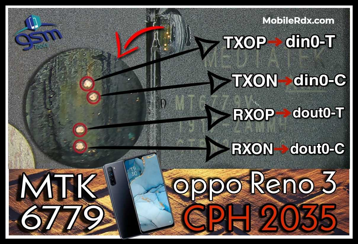 Oppo Reno3 CPH2035 ISP PinOUT Remove FRP Pattern Using Easy JTAG Plus