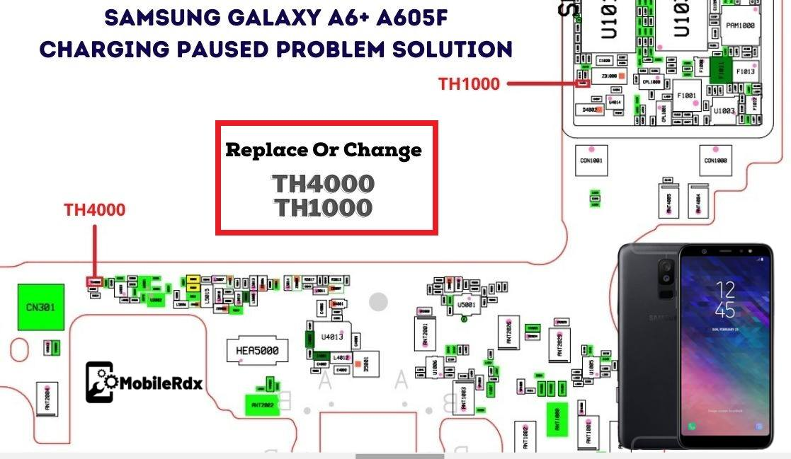 Samsung Galaxy A6 A605F Charging Paused Problem Repair Solution