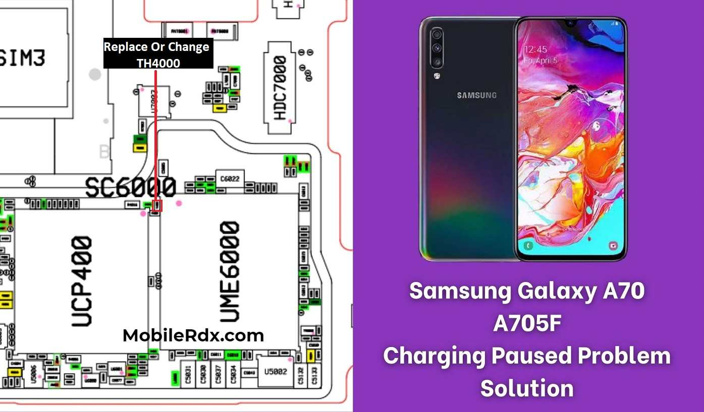 Samsung Galaxy A70 A705F Charging Paused Problem