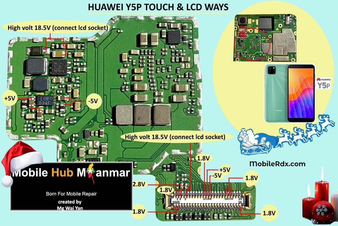 Huawei Y5p Backlight Ways And Touch Screen Problem Solution