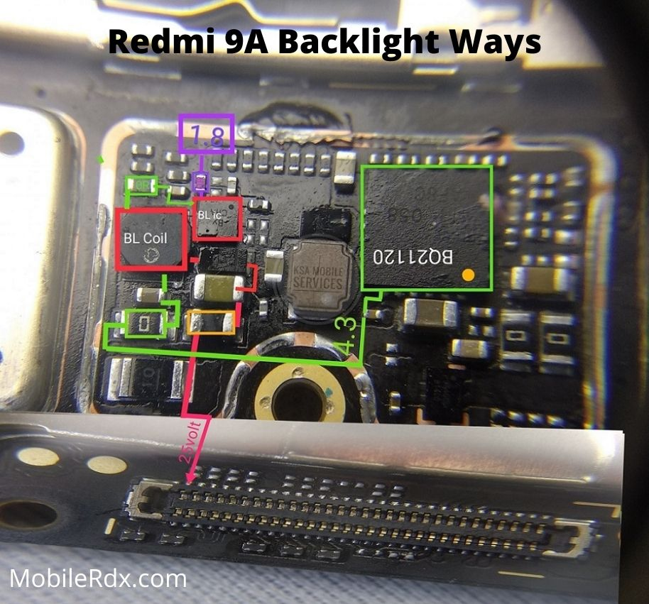 Redmi 9A Backlight Ways Display Light Problem Repair Solution