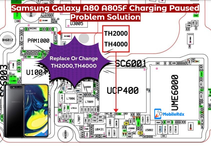 Repair Samsung Galaxy A80 A805F Charging Paused Problem