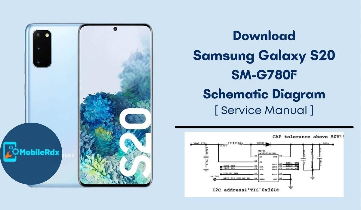 Download Samsung Galaxy S20 G780F Schematic Diagram   Service Manual