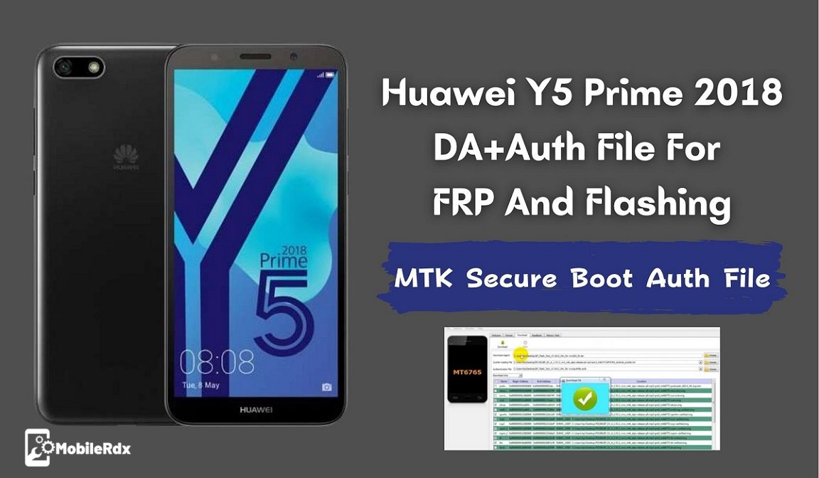 Huawei Y5 Prime 2018 DAAuth File For FRP And Flashing