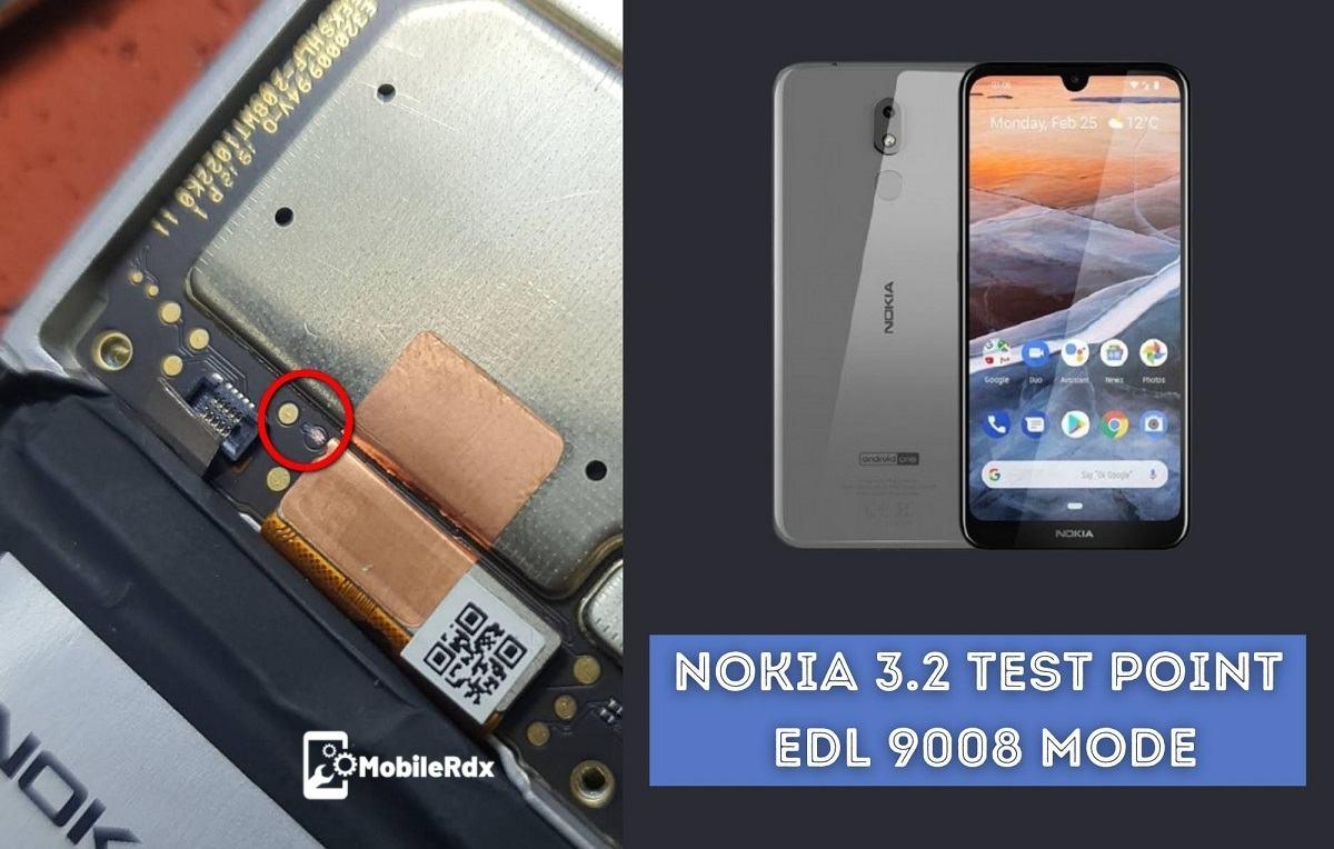 Nokia 3.2 Test Point   EDL 9008 Mode   Remove Pattern FRP Flashing