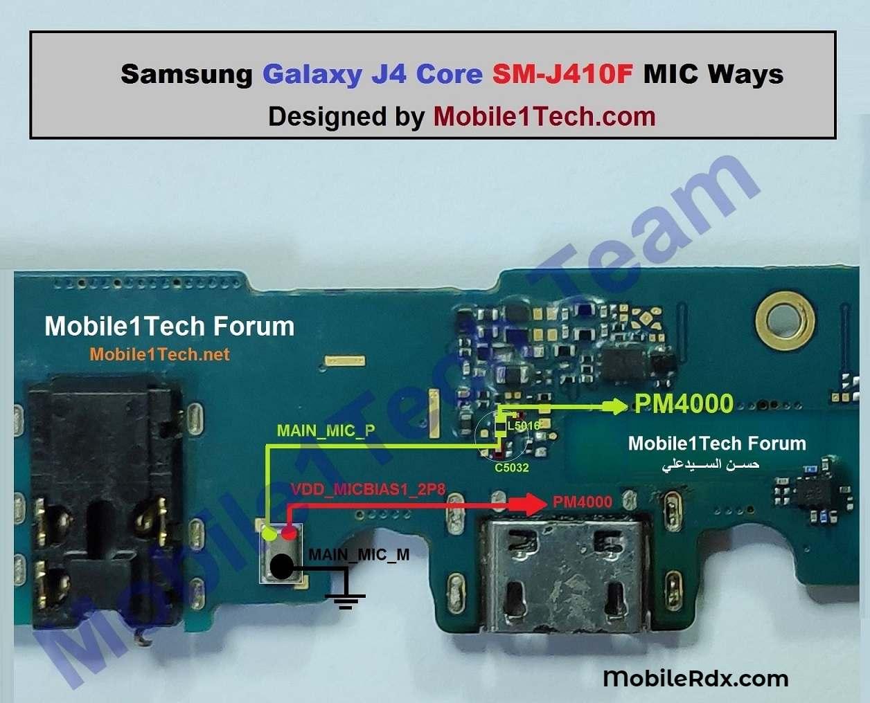 Samsung Galaxy J4 Core J410F Mic Ways Mic Problem Solution