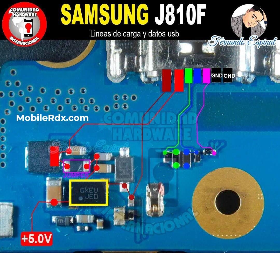 Repair Samsung Galaxy J8 J810F Charging Problem USB Ways