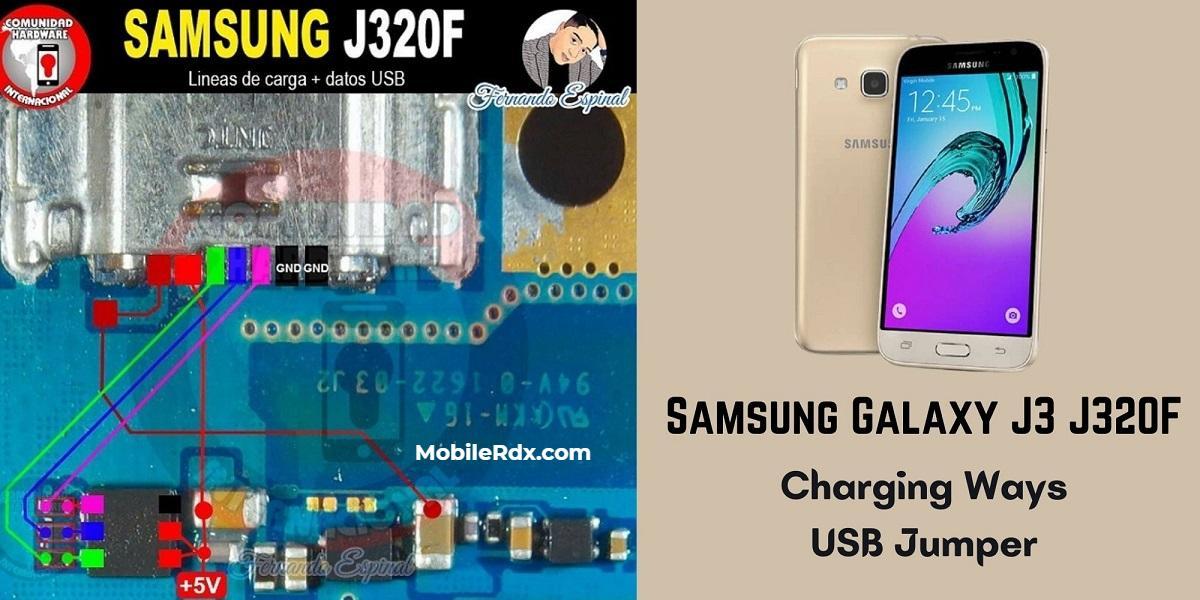 Repair Samsung J3 J320F Wont Charge Problem   Charging Ways