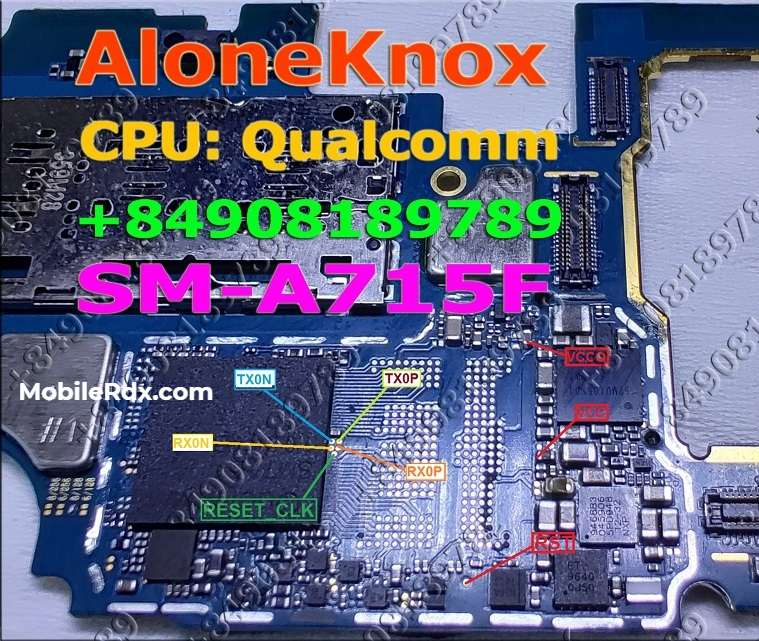 Samsung Galaxy A71 UFS ISP PinOUT