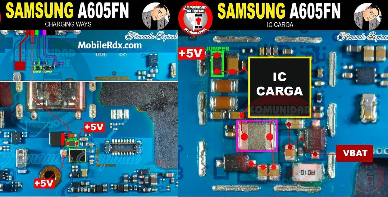 Repair Samsung A6 A605F Charging Problems   USB Ways