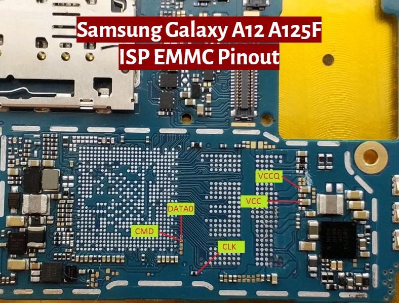 Samsung Galaxy A12 SM A125F Full ISP EMMC PinOUT   Test Point