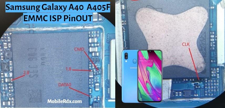 Samsung Galaxy A40 ISP PinOUT to Remove Pattern FRP Lock
