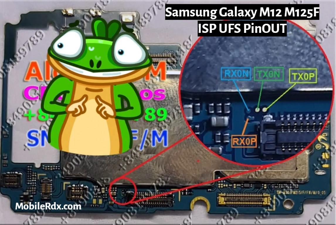 Samsung Galaxy M12 M125F ISP UFS PinOUT
