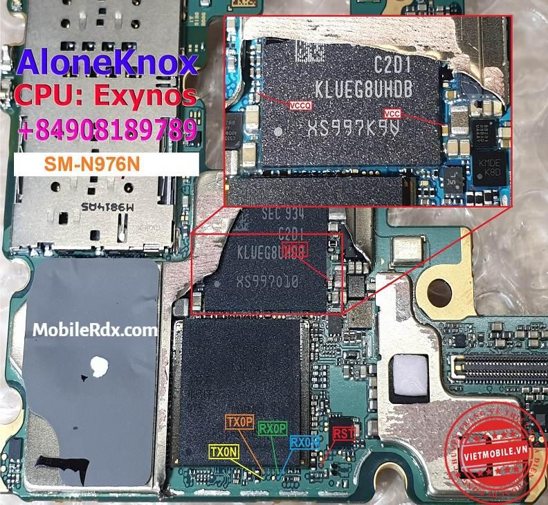 Samsung Galaxy Note 10 Plus 5G N976N ISP UFS PinOUT
