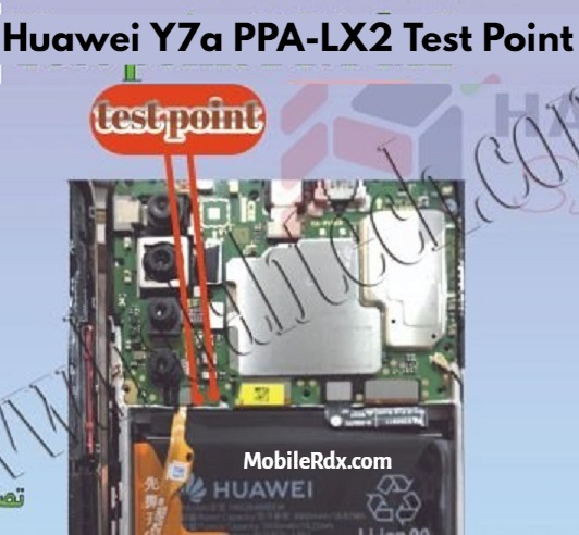 Huawei Y7a Test Point For Remove User Lock FRP And Flashing