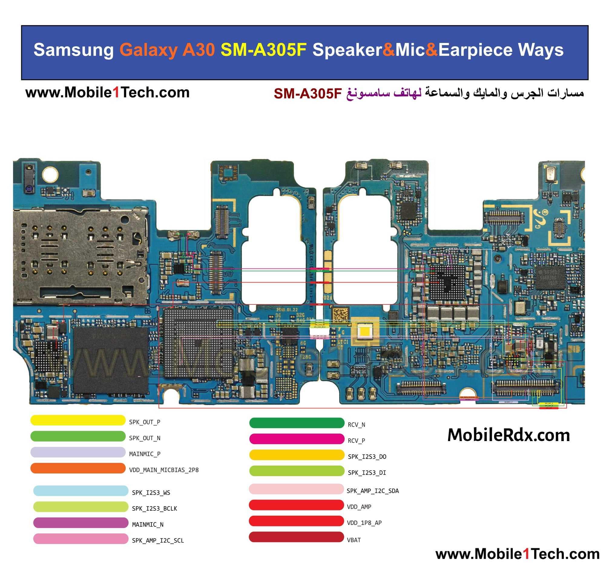 Repair Samsung Galaxy A30 A305F Speaker Audio Problem   Speaker Ways