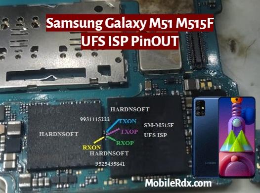 Samsung Galaxy M51 M515F UFS ISP PinOUT   Test Point