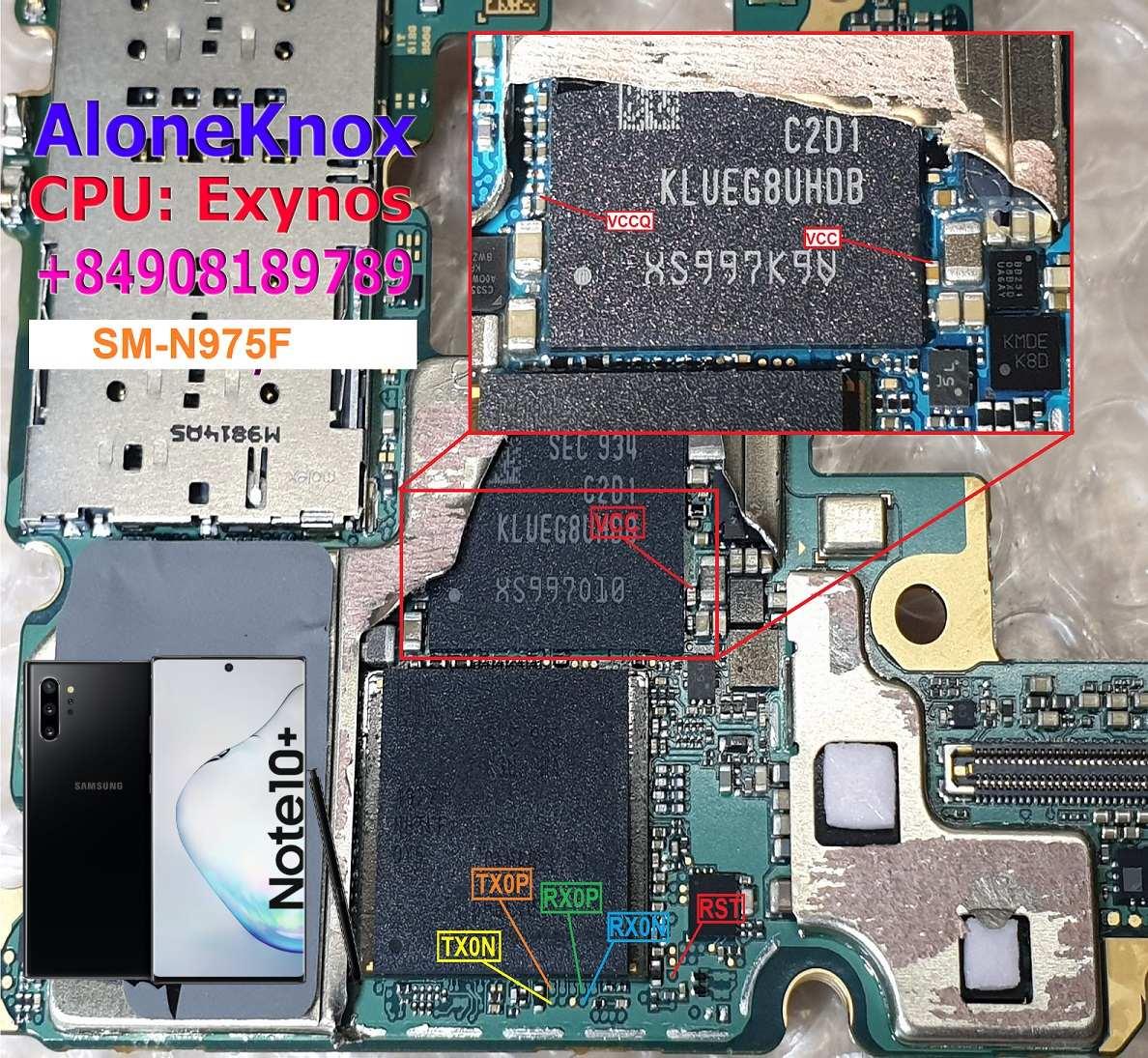 Samsung Galaxy Note 10 UFS ISP Pinout   Test Point