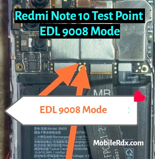 Xiaomi Redmi Note 10 Test Point   EDL 9008 Mode