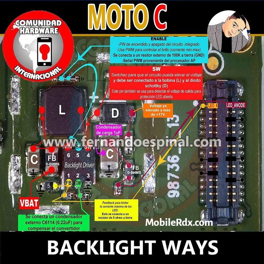 Repair Motorola Moto C Backlight Problem Display Light Ways