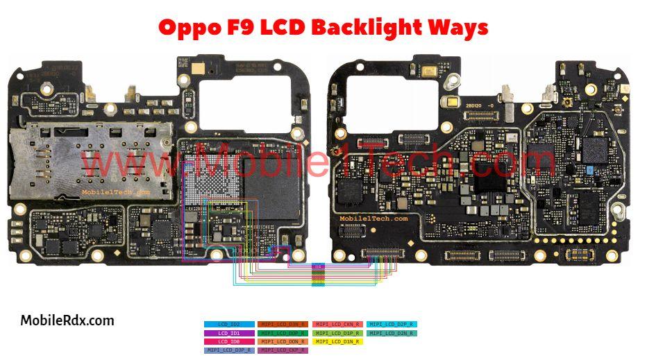 Repair Oppo F9 Backlight Ways Problem   Display Light Solution