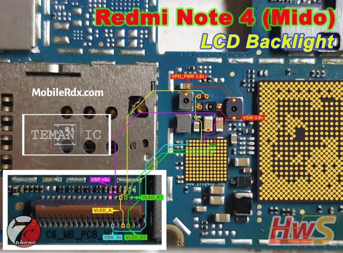 Repair Redmi Note 4 Display Light Problem LCD Backlight Ways