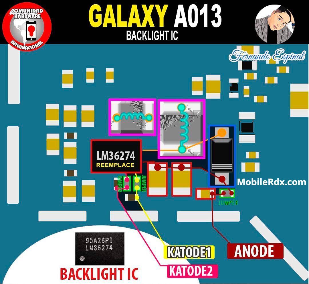 Repair Samsung Galaxy A01 A013 Display Problems   LCD Backlight Ways