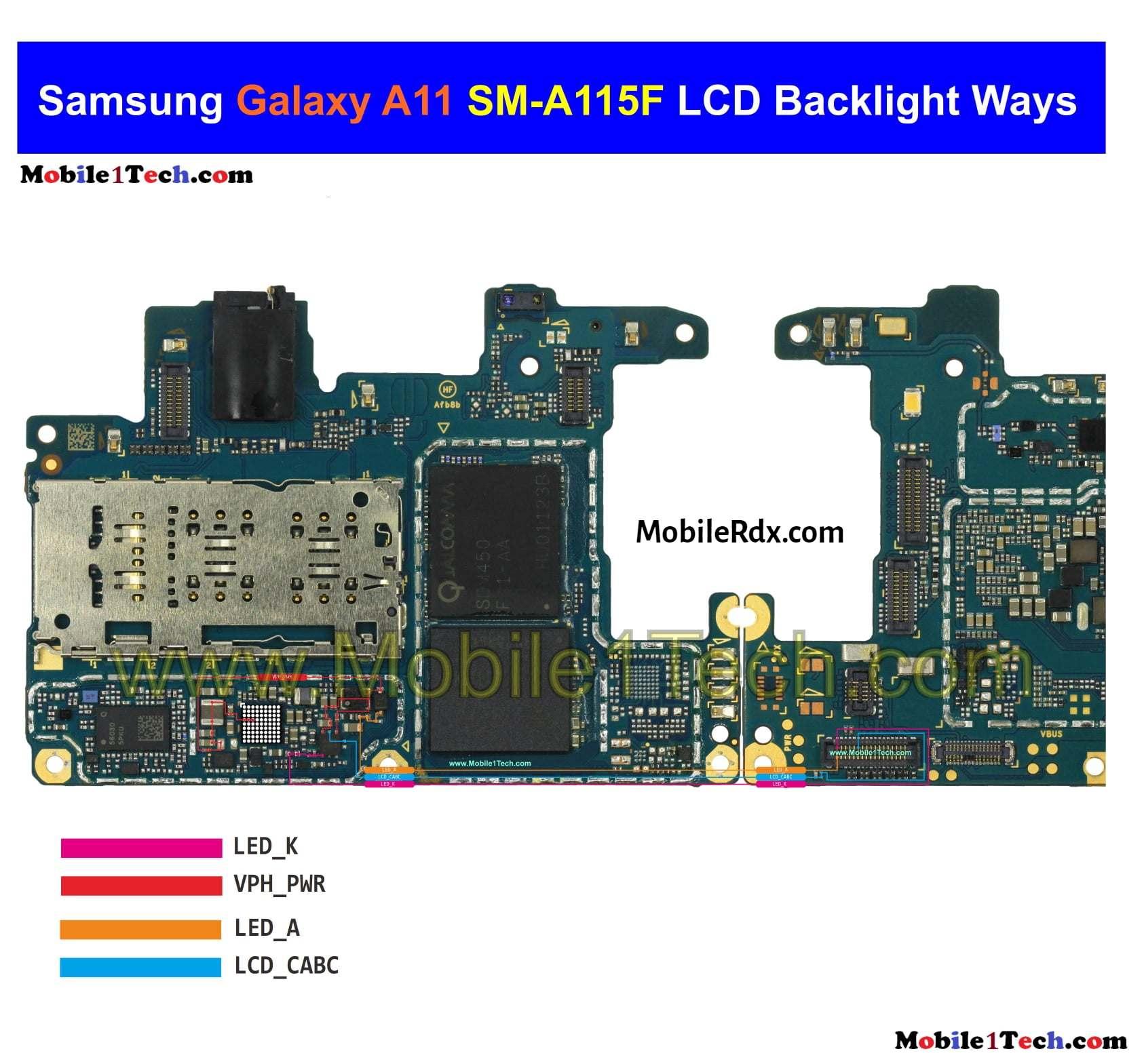 Samsung Galaxy A11 A115F Backlight Ways Repair Display Light Problem