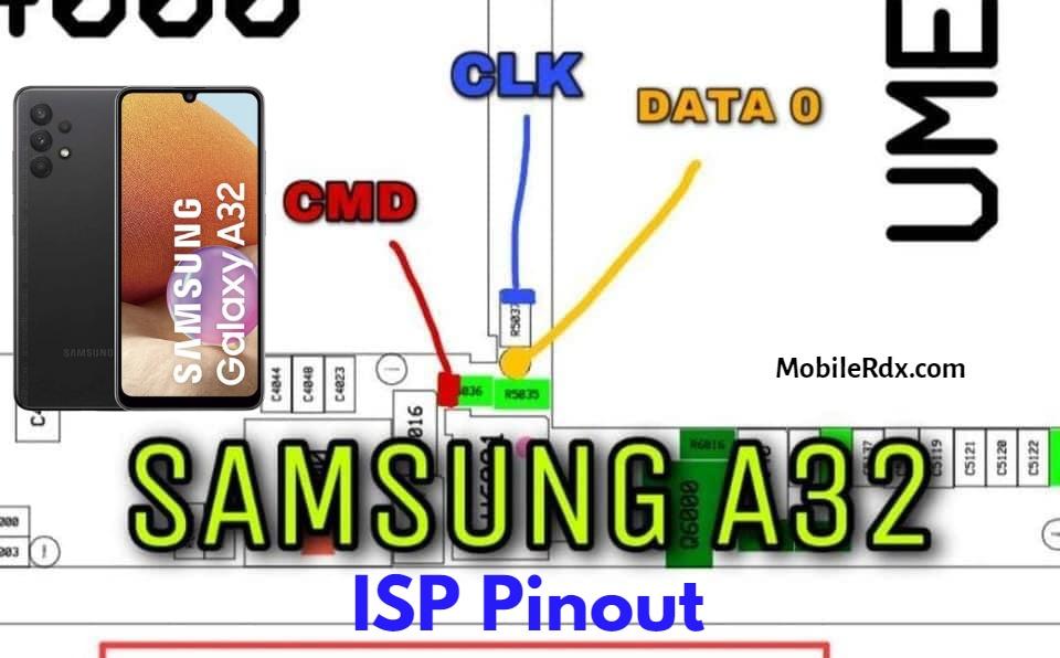 Samsung Galaxy A32 ISP EMMC PinOUT   Test Point