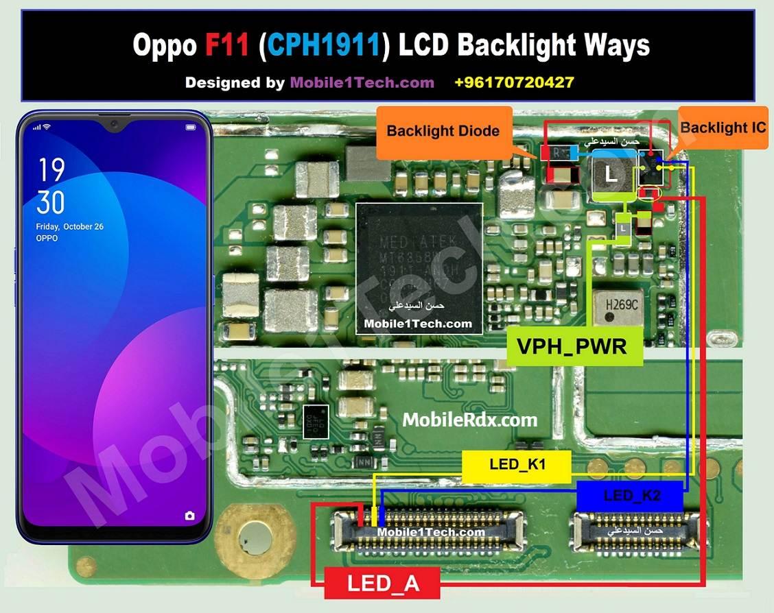 Oppo F11 LCD Backlight Ways   Repair Display Light Problem