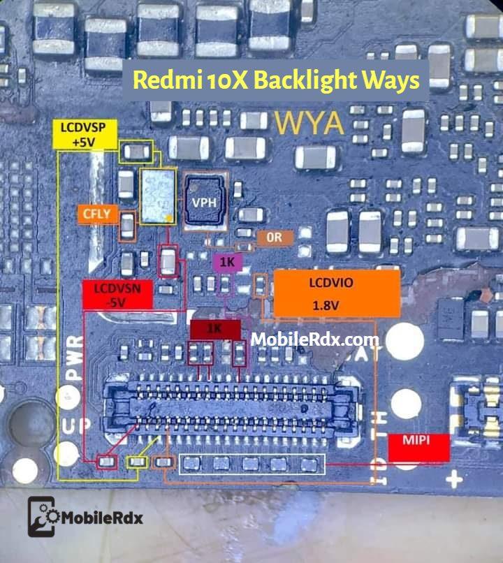 Redmi 10X Backlight Ways   Repair Display LCD Light Problem