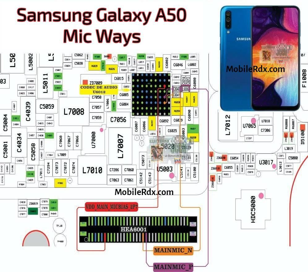 Repair Samsung Galaxy A50 Mic Not Working Problem   Mic Ways